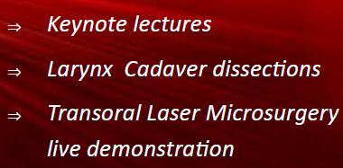 1st Transoral Laser Microsurgery Workshop : 1er juin 2018 – Bordeaux (FRANCE)